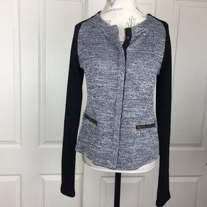 Stitch Fix Heathered Zip Pocket Cardigan Jacket